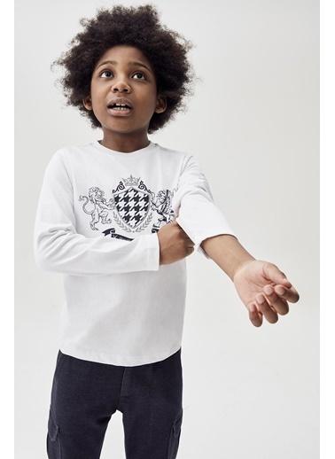 Nebbati Erkek Çocuk Beyaz T-Shirt 20Fw0Nb3523 Beyaz